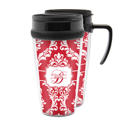 Damask Acrylic Travel Mugs (Personalized)