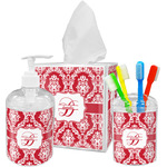 Damask Bathroom Accessories Set (Personalized)