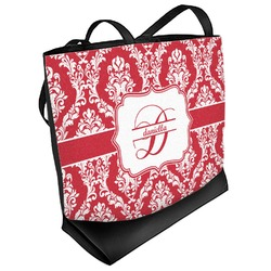 Damask Beach Tote Bag (Personalized)