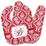Damask Baby Bib w/ Name and Initial