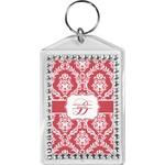 Damask Bling Keychain (Personalized)