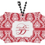 Damask Rear View Mirror Ornament (Personalized)