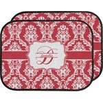 Damask Car Floor Mats (Back Seat) (Personalized)