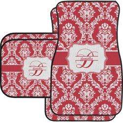Damask Car Floor Mats Set - 2 Front & 2 Back (Personalized)