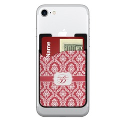 Damask Cell Phone Credit Card Holder (Personalized)