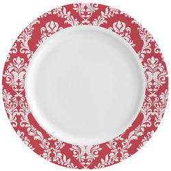 Damask Ceramic Dinner Plates (Set of 4) (Personalized)