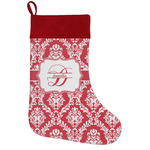 Damask Holiday Stocking w/ Name and Initial