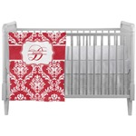 Damask Crib Comforter / Quilt (Personalized)