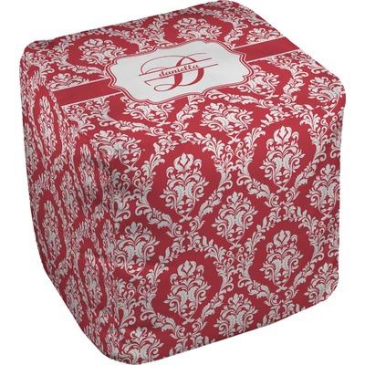 Damask Cube Pouf Ottoman (Personalized)