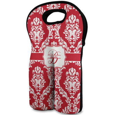 Damask Wine Tote Bag (2 Bottles) (Personalized)