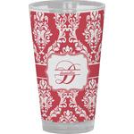 Damask Drinking / Pint Glass (Personalized)