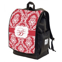 Damask Backpack w/ Front Flap  (Personalized)