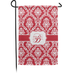 Damask Garden Flag With Pole (Personalized)