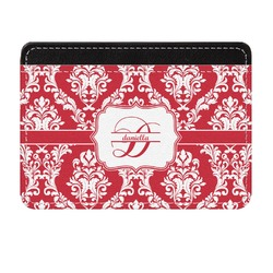 Damask Genuine Leather Front Pocket Wallet (Personalized)