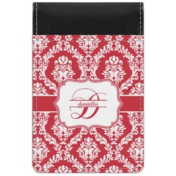 Damask Genuine Leather Small Memo Pad (Personalized)