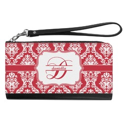 Damask Genuine Leather Smartphone Wrist Wallet (Personalized)