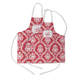 Damask Kid's Apron w/ Name and Initial