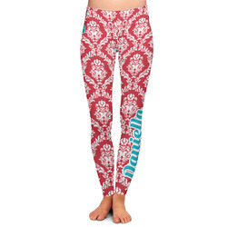Damask Ladies Leggings (Personalized)