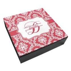 Damask Leatherette Keepsake Box - 8x8 (Personalized)
