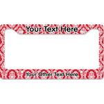 Damask License Plate Frame (Personalized)