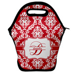 Damask Lunch Bag w/ Name and Initial