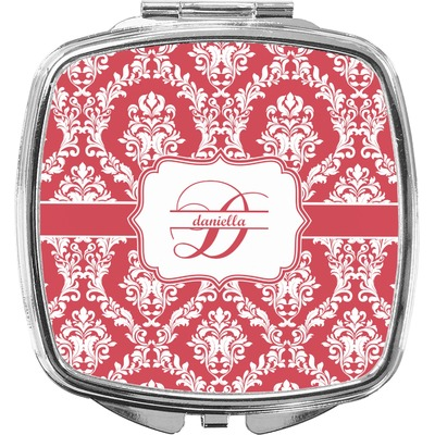 Damask Compact Makeup Mirror (Personalized)
