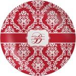 Damask Melamine Plate (Personalized)