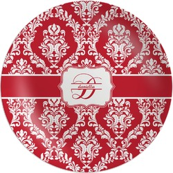 Damask Melamine Plate (Personalized)