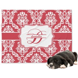 Damask Minky Dog Blanket - Large  (Personalized)