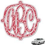 Damask Monogram Car Decal (Personalized)