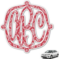 Damask Monogram Car Decal (Personalized)