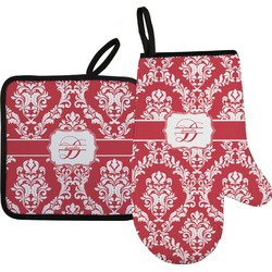 Damask Oven Mitt & Pot Holder (Personalized)