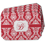 Damask Dining Table Mat - Octagon w/ Name and Initial