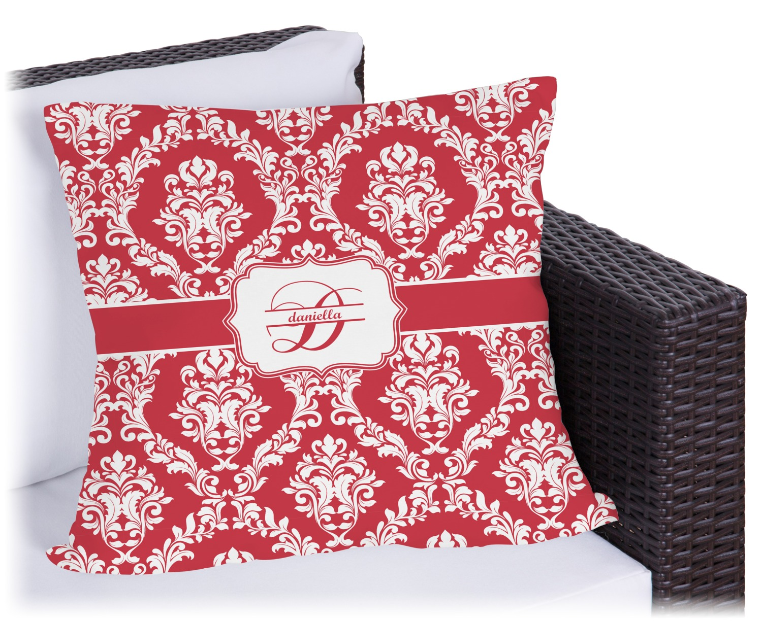 Damask Outdoor Pillow (Personalized) - YouCustomizeIt