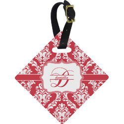 Damask Diamond Luggage Tag (Personalized)