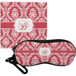 Damask Eyeglass Case & Cloth (Personalized)