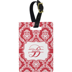 Damask Rectangular Luggage Tag (Personalized)