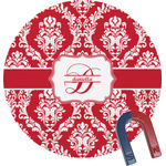 Damask Round Magnet (Personalized)