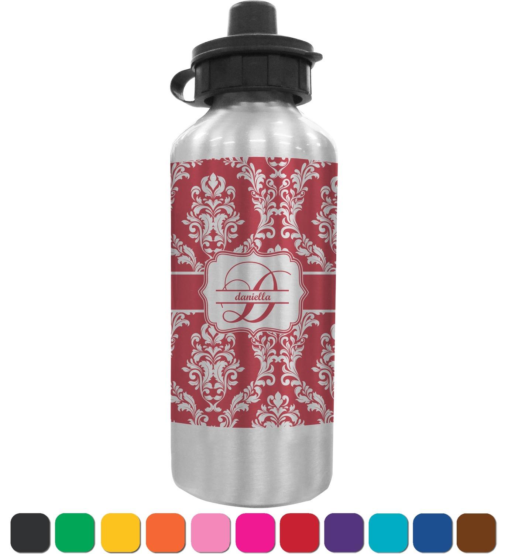 Water Bottle Personalised: Damask Water Bottle (Personalized)