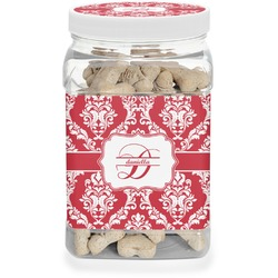Damask Pet Treat Jar (Personalized)