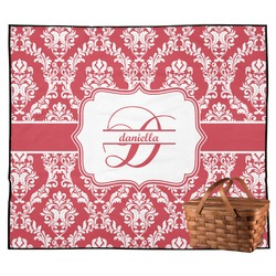 Damask Outdoor Picnic Blanket (Personalized)