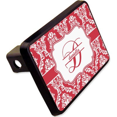 "Damask Rectangular Trailer Hitch Cover - 2"" (Personalized)"