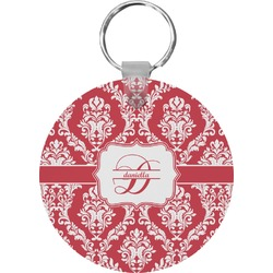 Damask Round Keychain (Personalized)