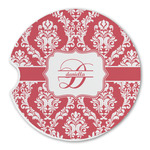 Damask Sandstone Car Coasters (Personalized)