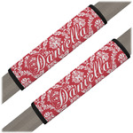 Damask Seat Belt Covers (Set of 2) (Personalized)
