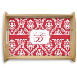 Damask Natural Wooden Tray - Small (Personalized)