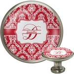 Damask Cabinet Knob (Silver) (Personalized)