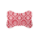 Damask Bone Shaped Dog Food Mat (Small) (Personalized)