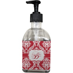 Damask Soap/Lotion Dispenser (Glass) (Personalized)