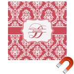 Damask Square Car Magnet (Personalized)